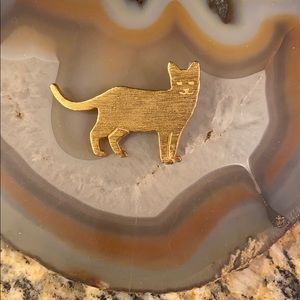 Egyptian Mau golden cat brooch by EB GUC